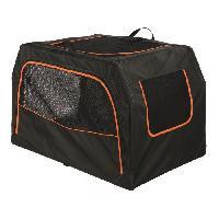 Transport - Deplacement - Promenade Box de transport Extend - M - 84x54x55 cm - Noir et orange - Pour chien - Trixie