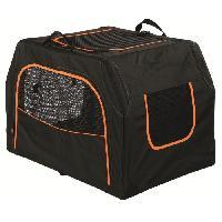 Transport - Deplacement - Promenade Box de transport Extend - S-M - 68x47x48 cm - Noir et orange - Pour chien - Trixie