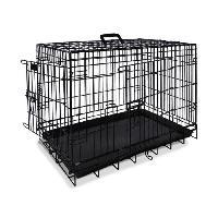 Transport - Deplacement - Promenade Cage de transport metallique noire pour chien 64 x 48 x 54cm