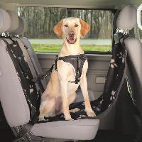 Transport - Deplacement - Promenade Couverture pour sieges de voiture - 0.65x1.45m - Noir et beige - Pour chien