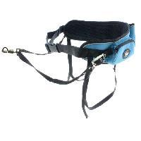 Transport - Deplacement - Promenade I DOG Ceinture Canicross - Bleu et gris - Pour chien