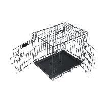 Transport - Deplacement - Promenade M-PETS - Caisse Voyager - Noir 61x46x48 cm - S - Pour chien - M Pets