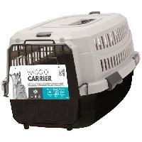 Transport - Deplacement - Promenade M-PETS Caisse de transport Viaggio Carrier M - 68x47.6x45cm - Bordeaux et gris - Pour chien