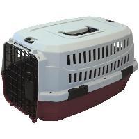 Transport - Deplacement - Promenade M-PETS Caisse de transport Viaggio Carrier XS - 48.3x32x25.4cm - Bordeaux et gris - Pour chien et chat - M Pets