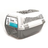 Transport - Deplacement - Promenade MPETS Cage de transport - Pour chien - M - Gris et blanc