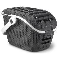Transport - Deplacement - Promenade Panier de transport chat et petit chien anthracite 51 x 38 x H33 cm