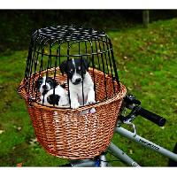 Transport - Deplacement - Promenade Panier velo avec grille pour chien