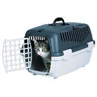 Transport - Deplacement - Promenade TRIXIE Box de transport Capri 1 - XS : 32x31x48 cm - Gris clair et gris foncé - Pour chien et chat