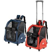 Transport - Deplacement - Promenade TROLLEY Sac de transport en tissu pour chien bleu et rouge 28 x 32 x 51cm