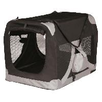 Transport - Deplacement - Promenade Transport souple XS - S - 35x35x50cm - Noir et gris - Pour chien - Trixie