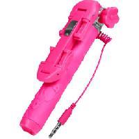 Trepied - Monopod Canne a selfie filaire + bouton declencheur rose - Moxie