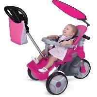 Tricycle FEBER - 800009561 - Baby Trike Easy Evolution Rose - tricycle