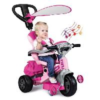 Tricycle FEBER - Tricycle Evolutif Baby Twist 360° 10 Pouces - Rose