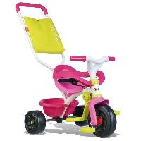 Tricycle SMOBY Tricycle Enfant Evolutif Be Fun Confort Rose