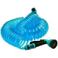 Tuyau - Buse - Tete Arrosage - Accessoire Tuyau eau spirale MIDLAND 15m + pistolet