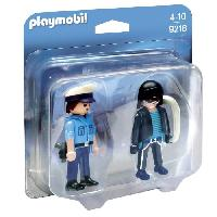 Univers Miniature - Habitation - Garage Miniature 9218 - Duo Policier et voleur