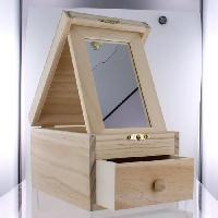 Univers Miniature - Habitation - Garage Miniature Boite a bijoux avec miroir - 16x11xH9.5cm