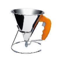 Ustensiles De Cuisine DE BUYER Mini entonnoir a piston Kwik - O 15 cm - Gris et orange
