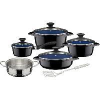 Ustensiles De Cuisine GSW Ceramica - Batterie de cuisine 9 pieces - Cobalt - Tous feux dont induction