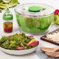 Ustensiles De Cuisine KARIS Set essoreuse + vinaigrier - Transparent et vert