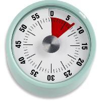 Ustensiles De Pesage - Mesure ADE 0408006 - Minuteur Mecanique - Support magnetique - Cadran Rond - TD 1706- Vert