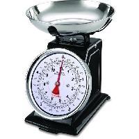 Ustensiles De Pesage - Mesure TERRAILLON 14477 Balance mecanique retro deco - 5 kg - bol 1L - Large cadran - Metal - Noire