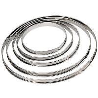 Ustensiles Patisserie DE BUYER Cercle a tarte - Inox - Ø 22 x H 2 cm - Tous feux dont induction