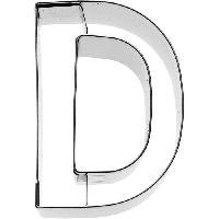 Ustensiles Patisserie KARIS Emporte-piece Lettre D Birkmann T.1.4 - Inox - 6 cm - PG rouge