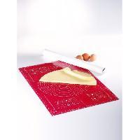 Ustensiles Patisserie MASTRAD Feuille a pâtisserie graduée F45210 - 40 x 60 cm - Rouge