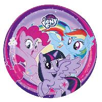 Vaisselle Jetable MY LITTLE PONY 8 Assiettes - 23 cm
