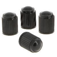 Valves et Capuchons 4 Bouchons de valve plastique standards