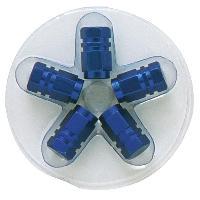 Valves et Capuchons 5 bouchons de Valves - Bleu - Hexagonaux - ADNAuto