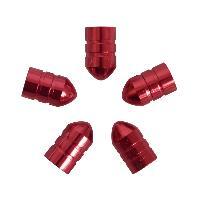 Valves et Capuchons Caches valve balle 5pcs rouge - ADNAuto