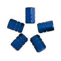 Valves et Capuchons Capuchons de valve piston 5pcs bleu - ADNAuto