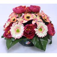 Vase - Coupe - Fleur Fleur artificielle Coupe GM de pivoines gerberas lys cosmos - Rouge cerise