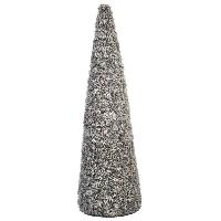Vase - Coupe - Fleur JOLIPA Cone pommes de pin sechees 90 cm gris