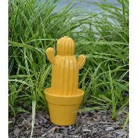 Vase - Coupe - Fleur MUNDUS Cactus Yuma Jaune - 24.5 cm