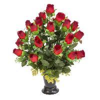 Vase - Coupe - Fleur UNE FLEUR EN SOIE Cone de boutons de rose - 51 cm