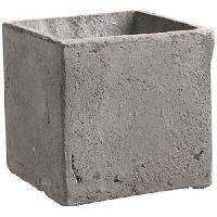 Vase - Soliflore MICA DECORATIONS 2 cache-Pots carres Jimmy - Gris