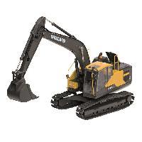 Vehicule - Engin Terrestre  A Construire BBURAGO Vehicule de construction Pelleteuse a chenilles EC220E Volvo 1-50eme - Noir
