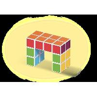 Vehicule - Engin Terrestre  A Construire MAGICUBE - Coffret de 16 cubes Magic Spiker