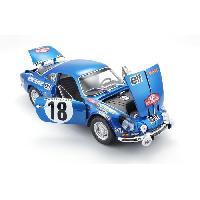 Vehicule - Engin Terrestre  A Construire MAITO Voiture Alpine Renault A110 1-18eme - Decoration Monte Carlo - Bleu Maisto