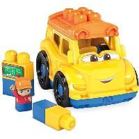 Vehicule - Engin Terrestre  A Construire MEGA BLOKS - Lil'Vehicule Bus Scolaire - Briques de construction - Bus Scolaire avec figurine et 5 blocs Inclut - 12 mois et + Mattel