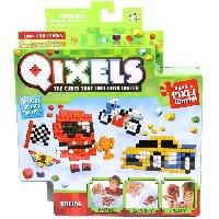 Vehicule - Engin Terrestre Miniature ASMOKIDS - QIXELS - Mini Kit 4 Creations - Theme RACING - Kanai Kids
