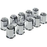 Vehicule 10 Caches boulons chromes D 32mm - camion - ADNAuto