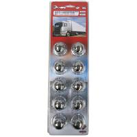 Vehicule 10 Caches boulons chromes D 33mm - camion - ADNAuto