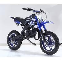 Vehicule DIRT BIKE Mini moto 50 cc 2 Temps Enfant - Bleu - Livree Prete a Rouler - Taotao