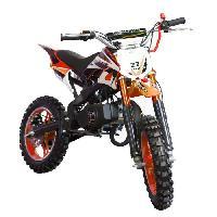 Vehicule DIRT BIKE Mini moto 50 cc 2 Temps Enfant - Orange - Livree Prete a Rouler - Taotao