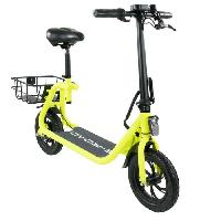 Vehicule E-ROAD Mini scooter electrique - Mini Cocobeach - 350 W - 36 V - 4.4 Ah - Jaune fluo