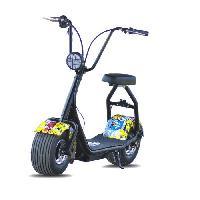 Vehicule MOOVWAY Scooter electrique Coco Junior - 500W - 48V - 12Ah - Multigraffiti